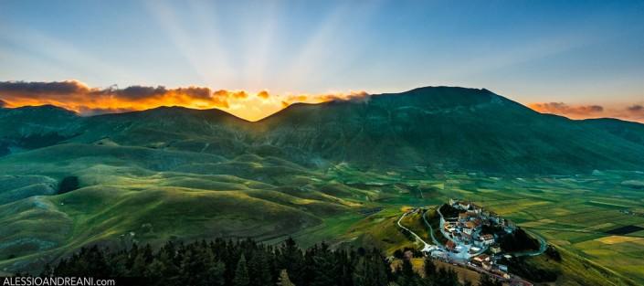Castelluccio di Norcia dall'alto