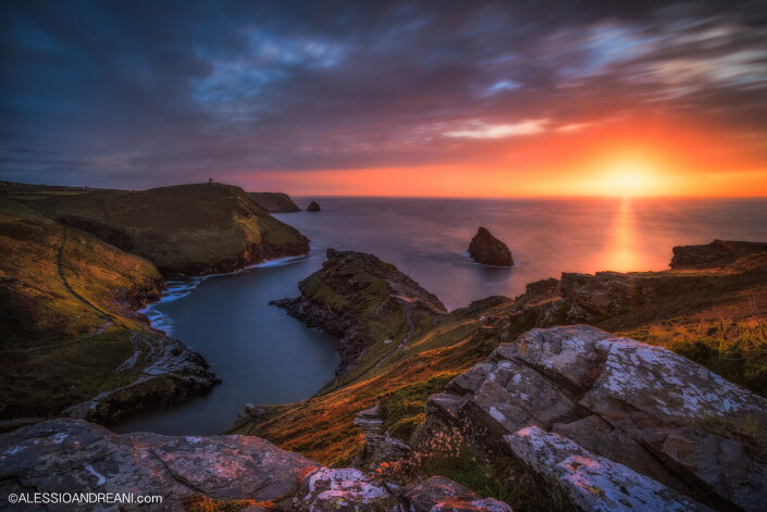 Sunset in Boscastle - Cornwall