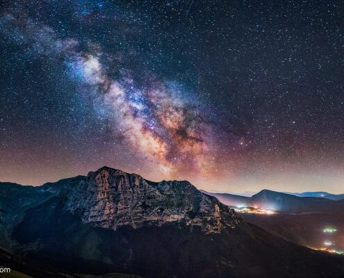 Milky Way in Le Marche region Italy