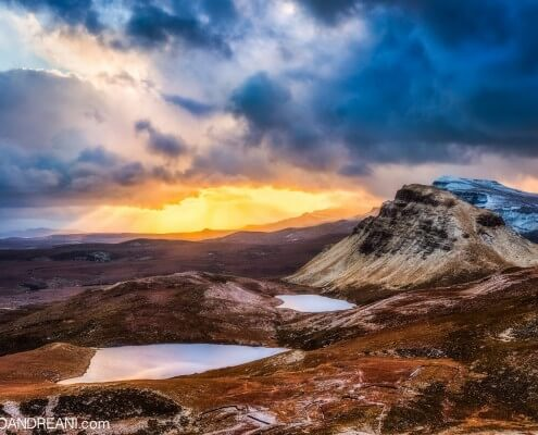 Quiraing scotland at sunrise