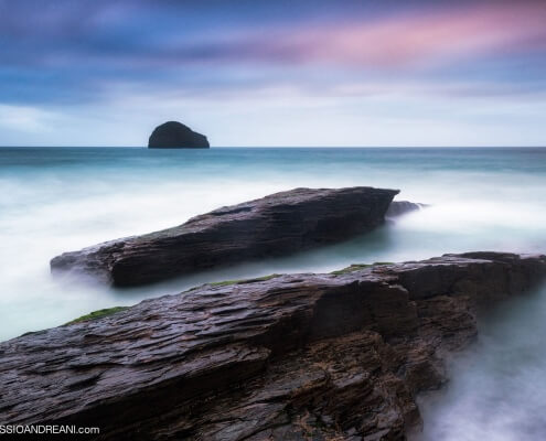 Trebarwith strand seascape