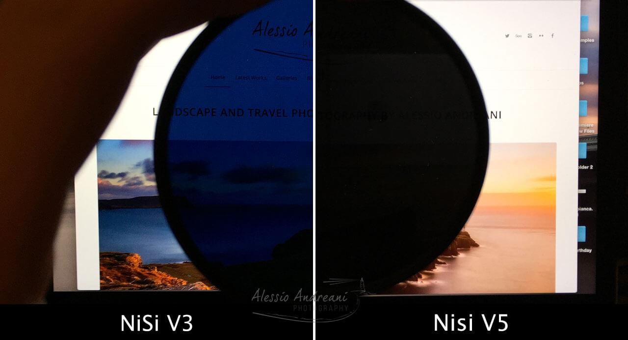 NiSi V5 Polariser vs V3